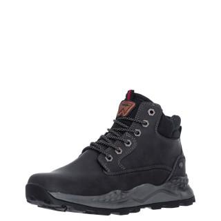Ανδρικά Μποτάκια WM12102A CROSSY YUMA Eco Leather Μαύρο Wrangler