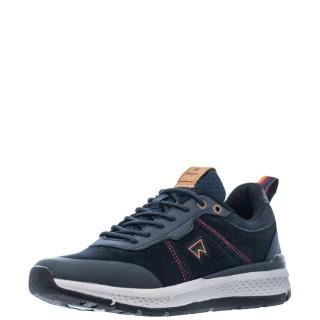 Ανδρικά Sneakers WM12131A PIONEER SUEDE Δέρμα Καστόρι Μπλέ Wrangler