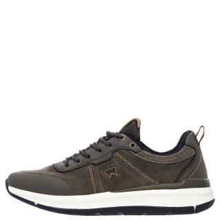 Ανδρικά Sneakers WM12131A PIONEER SUEDE Δέρμα Καστόρι Χακί Wrangler