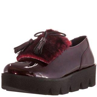 Γυναικεία Casual Παπούτσια 710 17715 Δέρμα Μπορντώ Yoshino