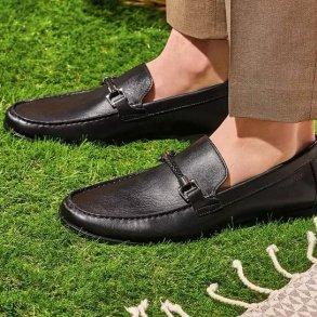 Ανδρικά Μοκασίνια & Loafers 110600 SUMMER II 8 CALF Δέρμα Μαύρο Stonefly