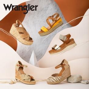Γυναικείες Πλατφόρμες WL11690A SUNRISE DAFNE Ύφασμα Eco Leather Κίτρινο Wrangler