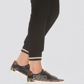 Γυναικεία Sneakers BF1083 EX117 SILVIA 22 Δέρμα Pony Skin Μαύρο Liu-Jo